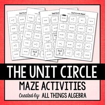 Unit Circle Mazes | | Math • High School | | Trigonometric