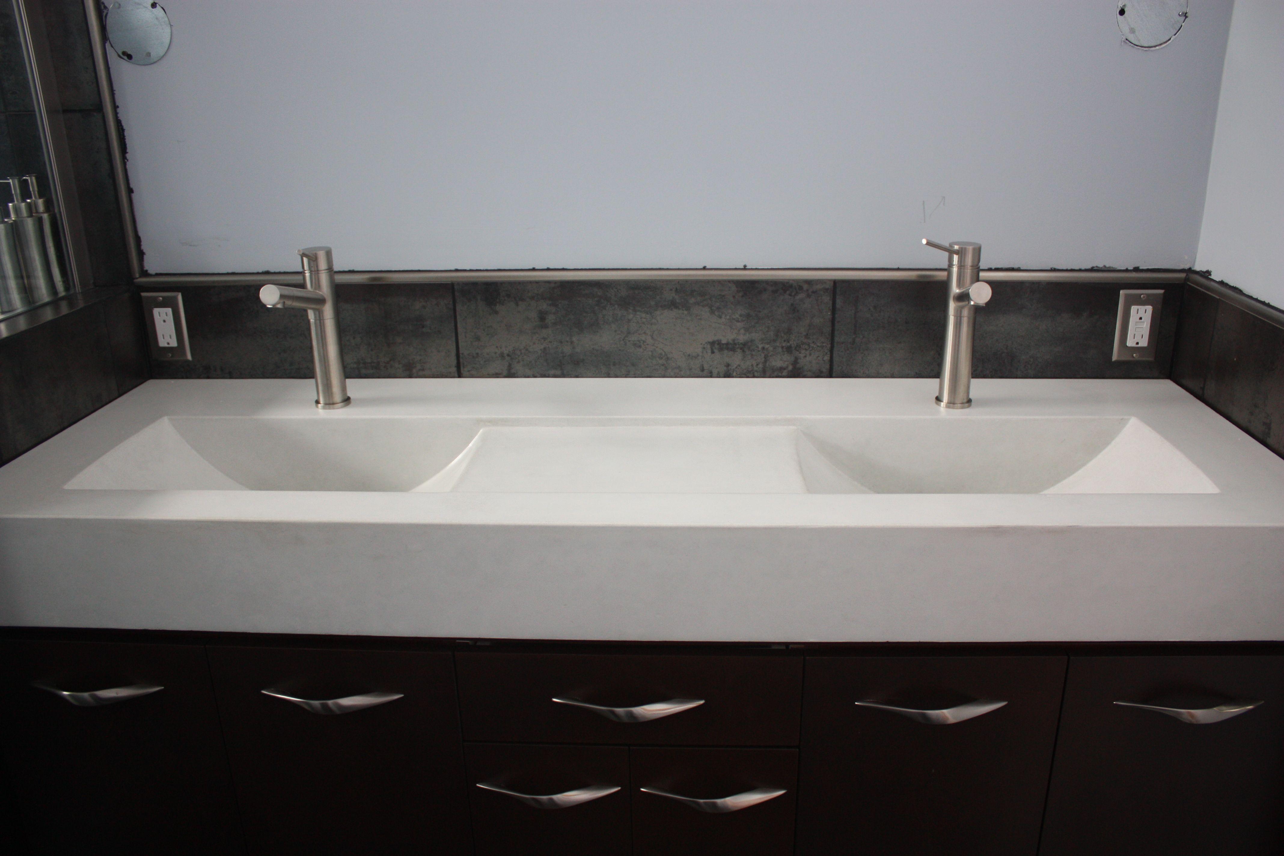 Image Result For Integral Countertop And Dual Sink Rectangular Sink Bathroom Floating Bathroom Vanities Vanity Sink