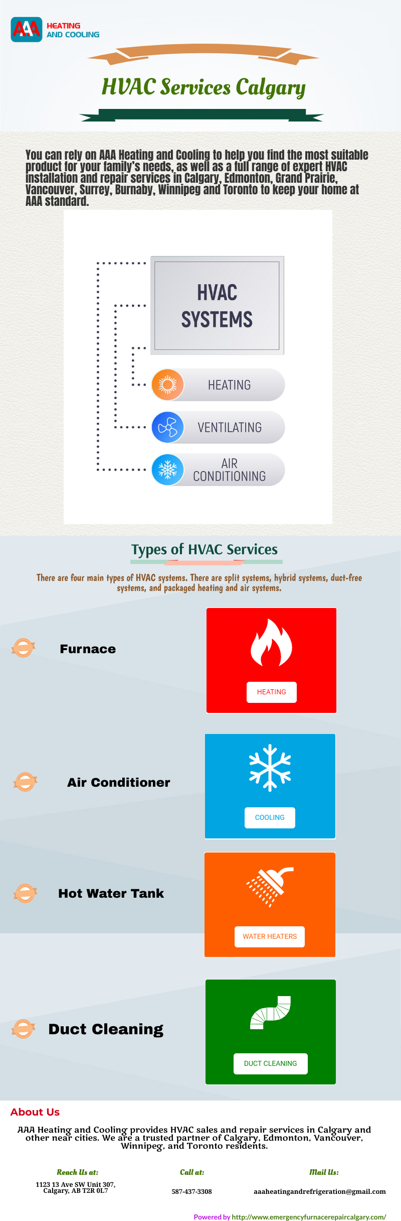 AAA Heating and Cooling HVAC Repair Services Calgary and