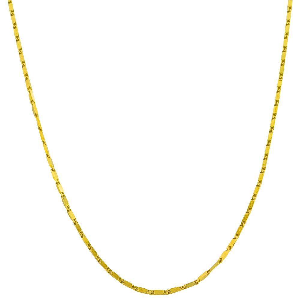 Fremada 14k Yellow Gold 16.5-inch Square Bar Link Necklace (16.5-inch), Women's, Size: 16.5 Inch