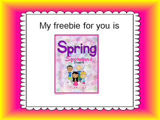 Spring Synonyms FREEBIE $0 ~Pinned by www.FernSmithsClassroomIdeas.com
