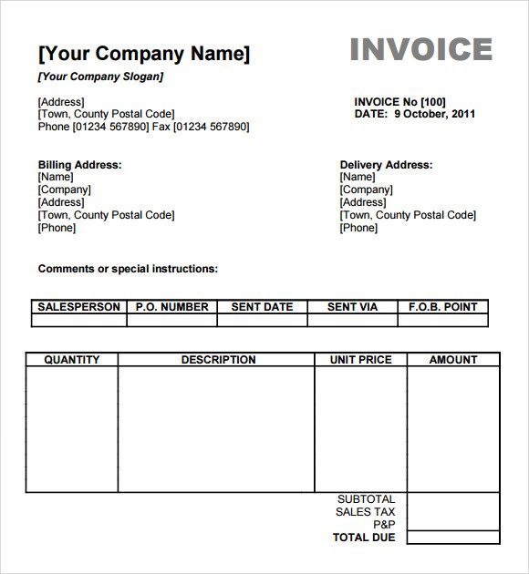 Bill Formats In Word Bill Invoice Templates  19 Free Word Excel & Pdf Formats .