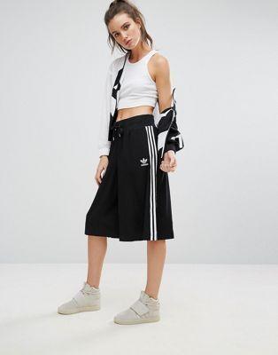 adidas Originals Black Three Stripe Culottes