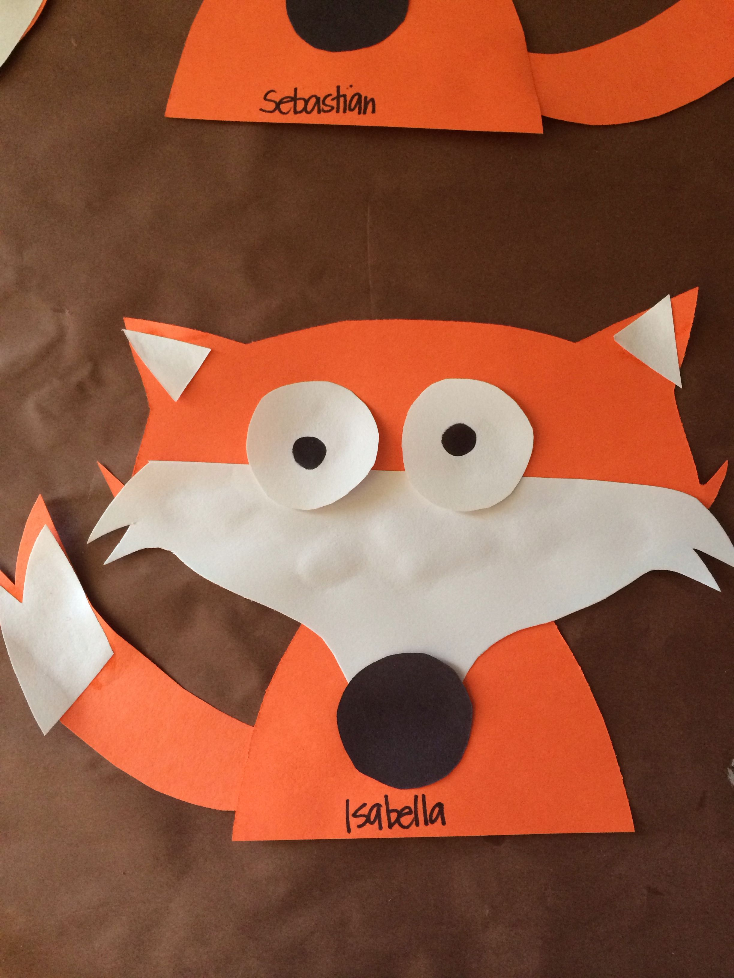 Fox For The Letter F No Template Or Instructions But Would Be Easy To Make