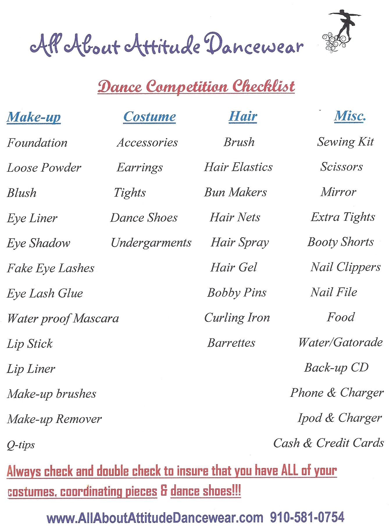 how to plan a dance competition