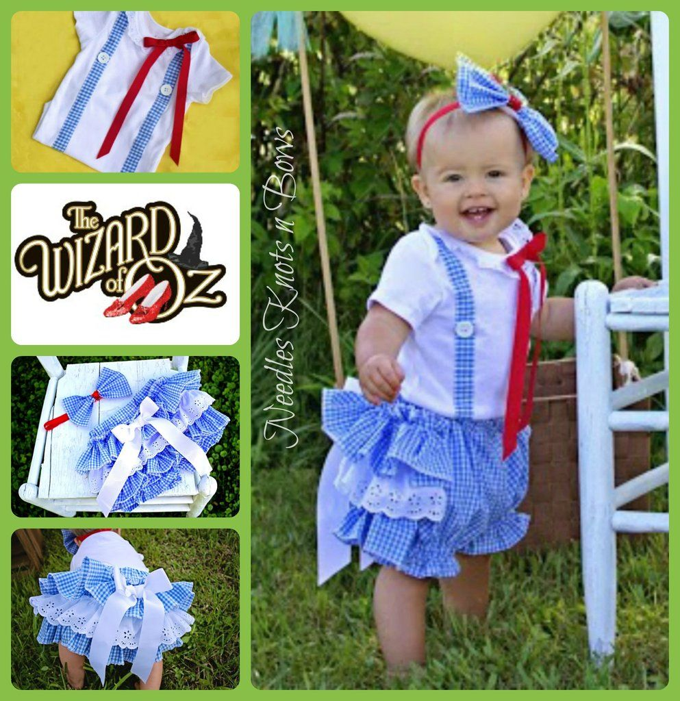 Baby Girls Dorothy Costume Girls Wizard of Oz Dorothy Bloomer Outfit  sc 1 st  Pinterest & Baby Girls Dorothy Costume Girls Wizard of Oz Dorothy Bloomer ...