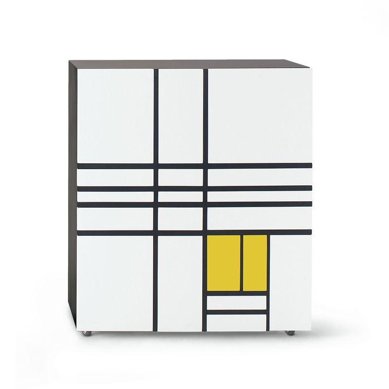 homage to mondrian 1 meuble de rangement cappellini de stijl meuble carton et porcelaine. Black Bedroom Furniture Sets. Home Design Ideas