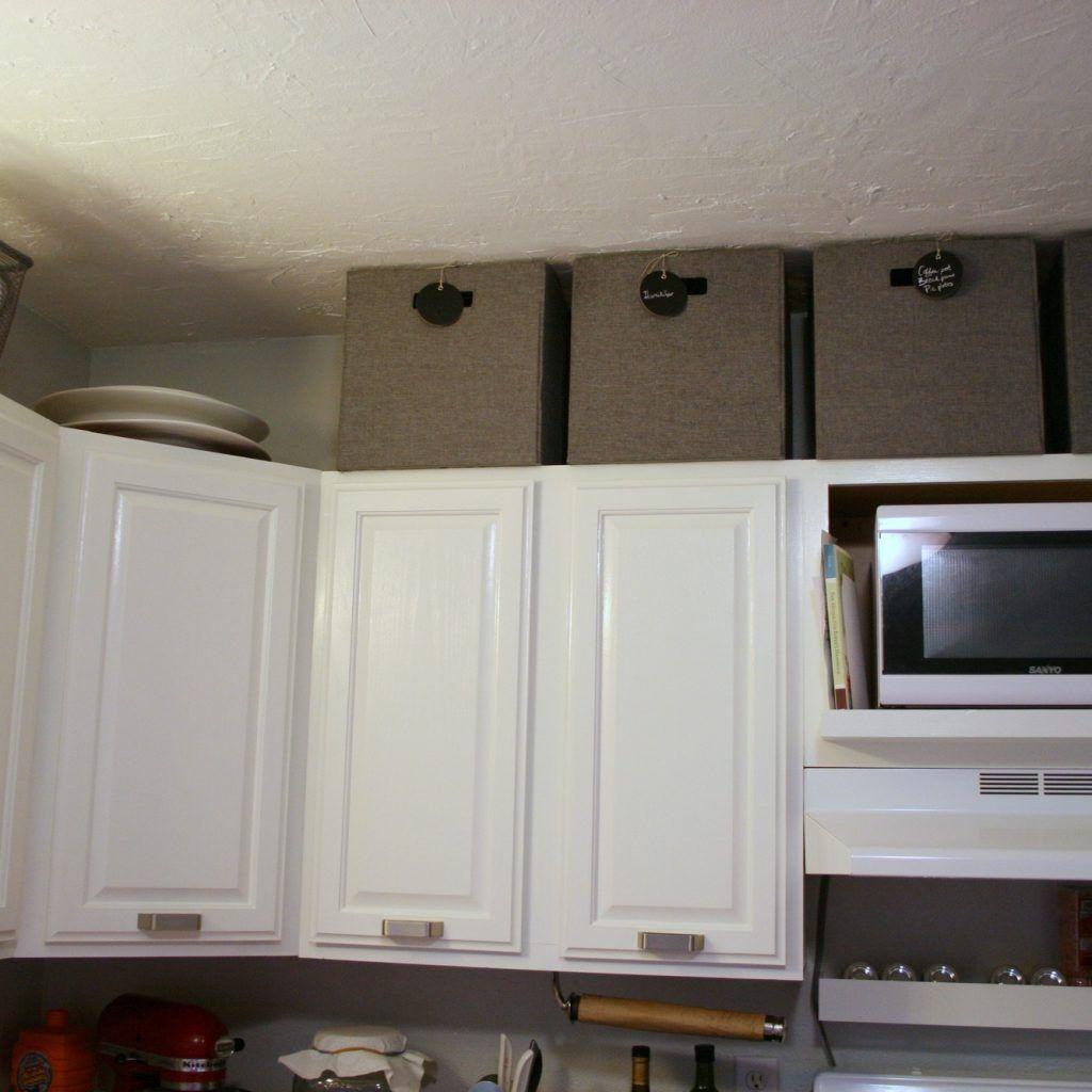 Basket Storage Above Kitchen Cabinets | Kitchen Cabinets | Pinterest ...