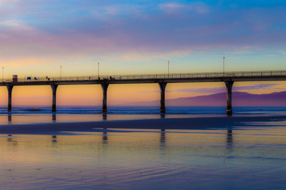 Aj Barr On Christchurch New Zealand New Brighton Surfing