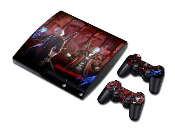 Devil may cry 4 sticker skin set for ps3 slim