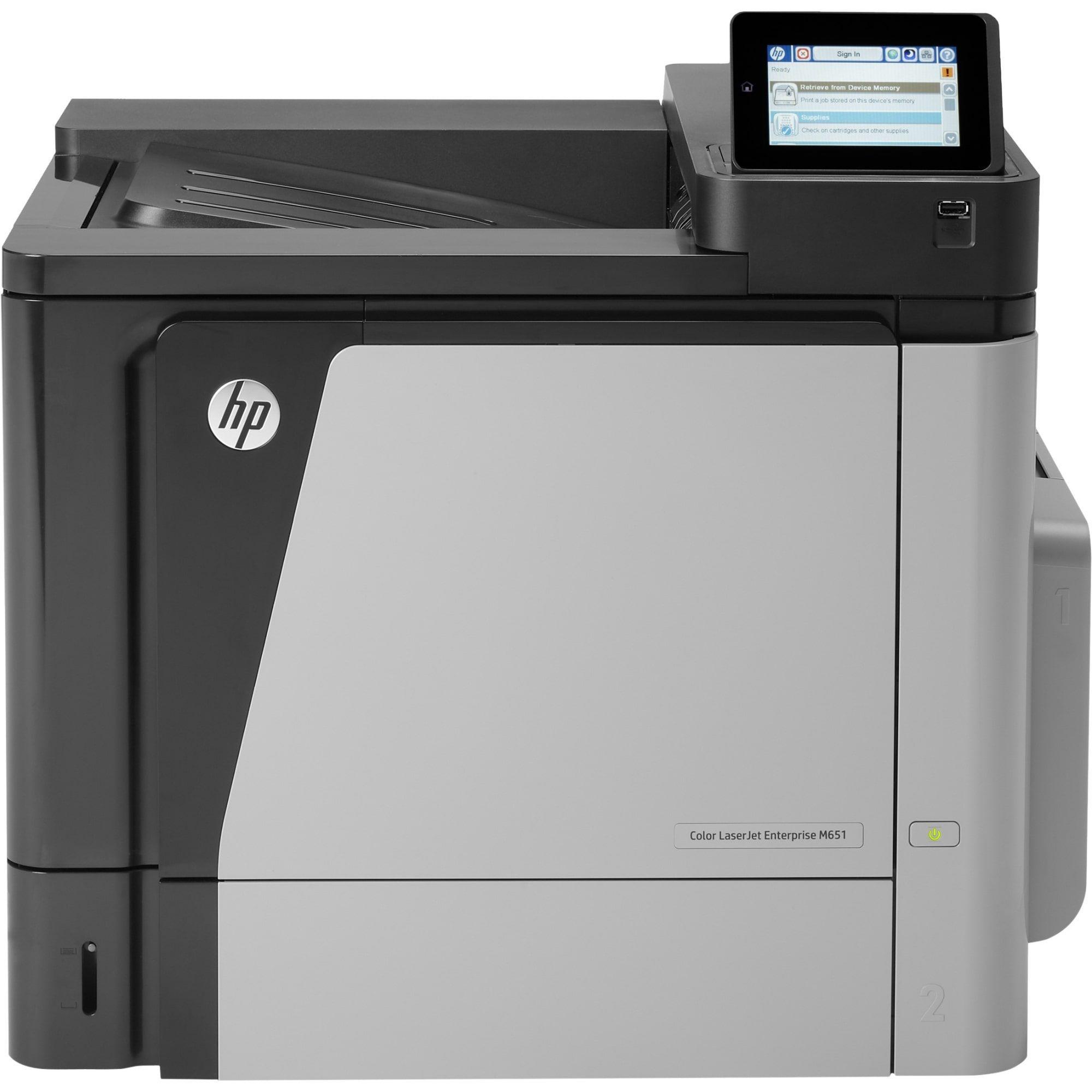 Hp laserjet m651dn laser printer refurbished color