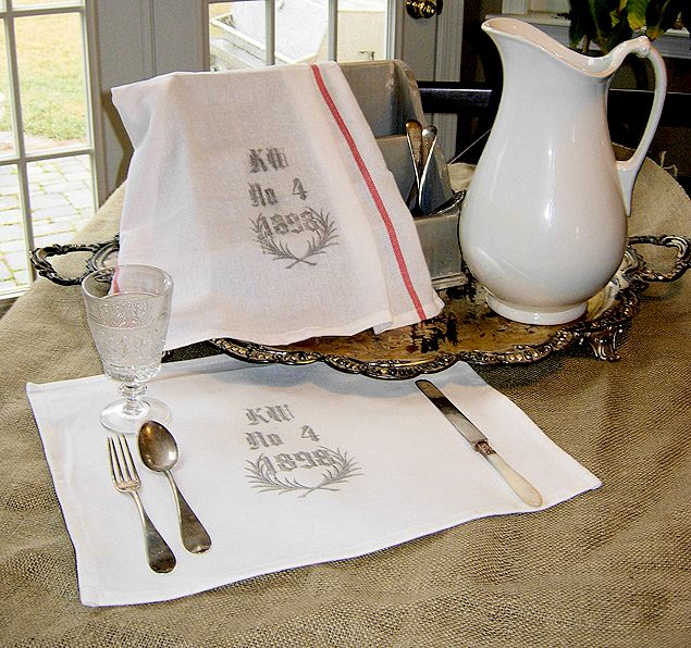 Create Your Own Graphic Vintage Tea Towels