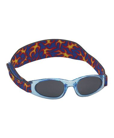 This Light Blue Flame Sunglasses & Strap - Kids is perfect! #zulilyfinds