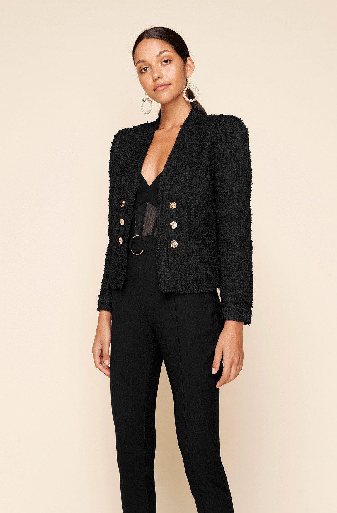 Black Catalina Jacket Jackets Coats Sheike Shop Online Jackets Tweed Jacket Clothes [ 1750 x 1150 Pixel ]