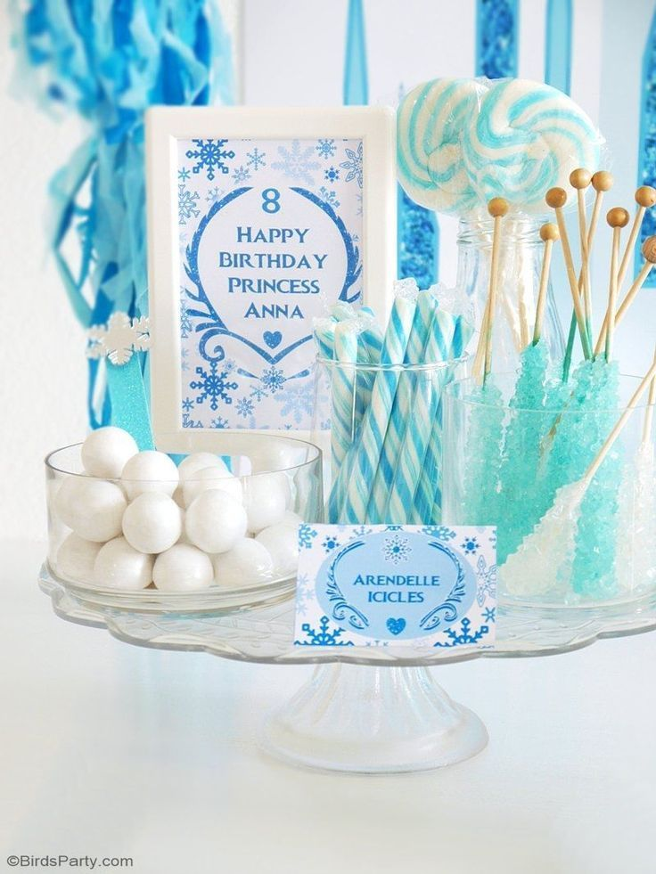 A Magical Frozen Inspired Birthday Party Frozen Themed Birthday