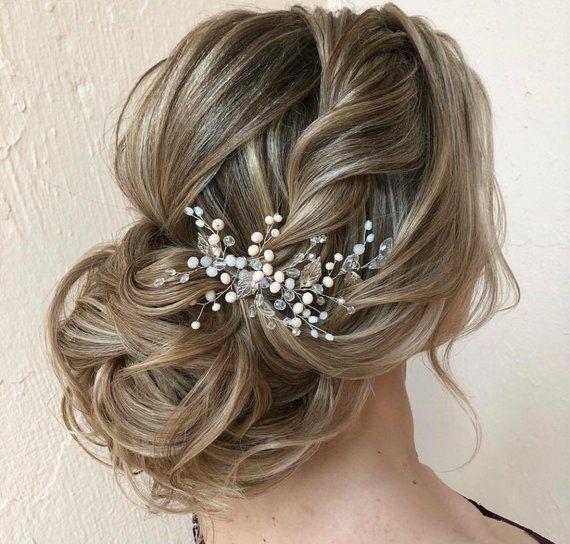 Silver Leaves Bridal Hair Vine Wedding Hair Vine Bride Hair Etsy In 2020 Hair Accessories Pearl Bridal Hair Headpiece Bride Hair Accessories