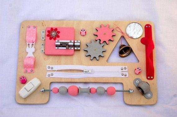 Photo of Tablero sensor de madera, tablero ocupado para niñas, juego silencioso, juguetes para bolsa ocupada, tablero de actividades de aprendizaje, tablero de motor fino, tablero de necesidades especiales