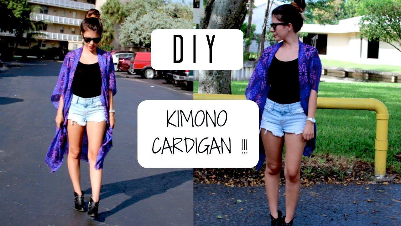 52bd4e417e93 DIY Kimono Cardigan- Cómo hacer un kimono cardigan! | Jenny Sanchez ...