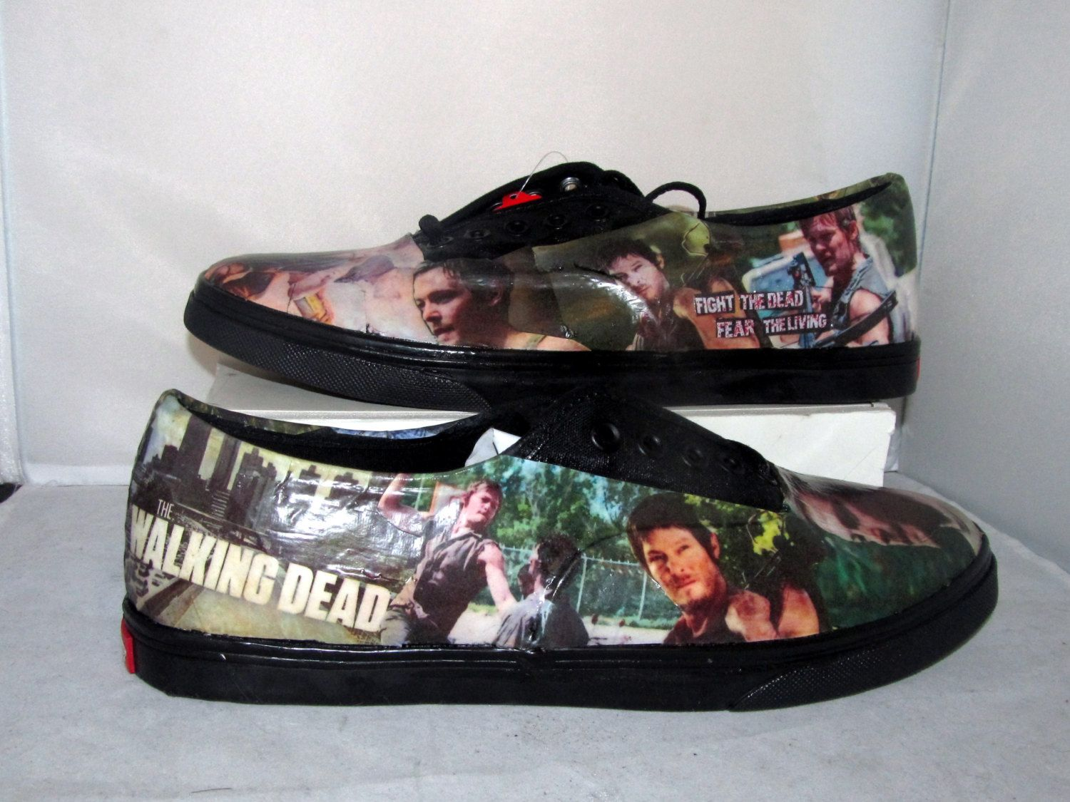 Walking dead converse shoes for sale - The Walking Dead Daryl Dixon Zombie Vans Made To By Custombykylee 90 00