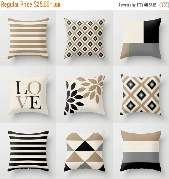 Neutral Throw Pillow Covers Taupe Beige Black Grey Kids Bedroom Enchanting Black Friday Decorative Pillows