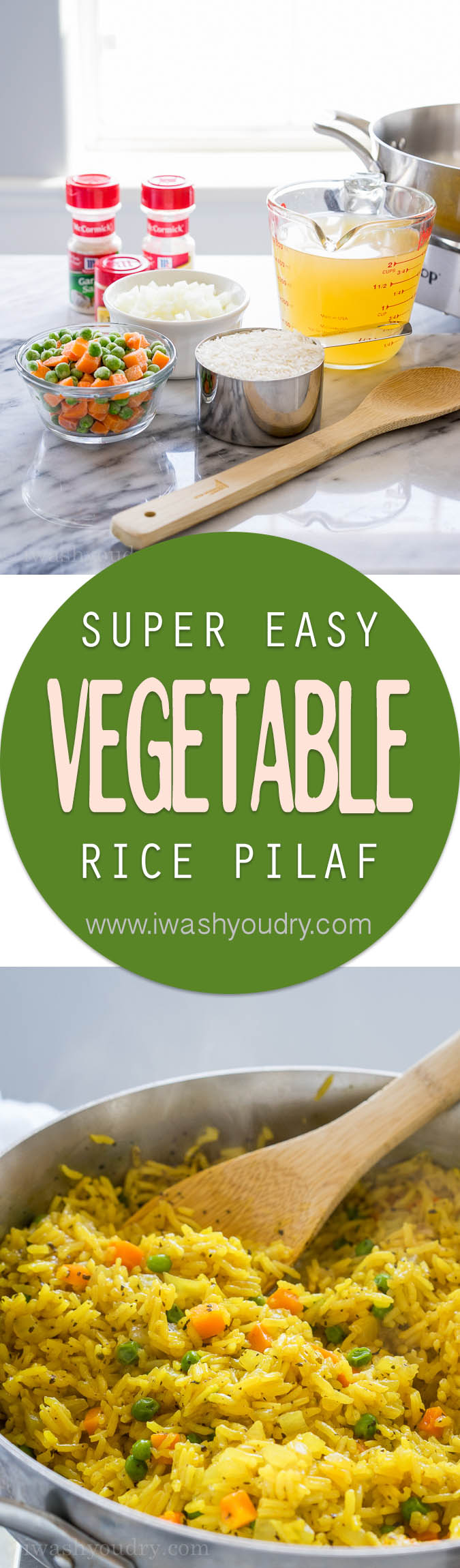 Easy Vegetable Rice Pilaf #easyricepilaf This quick and easy Vegetable Rice Pilaf is a homemade version of the boxed rice variety. My family loves this with dinner! #easyricepilaf