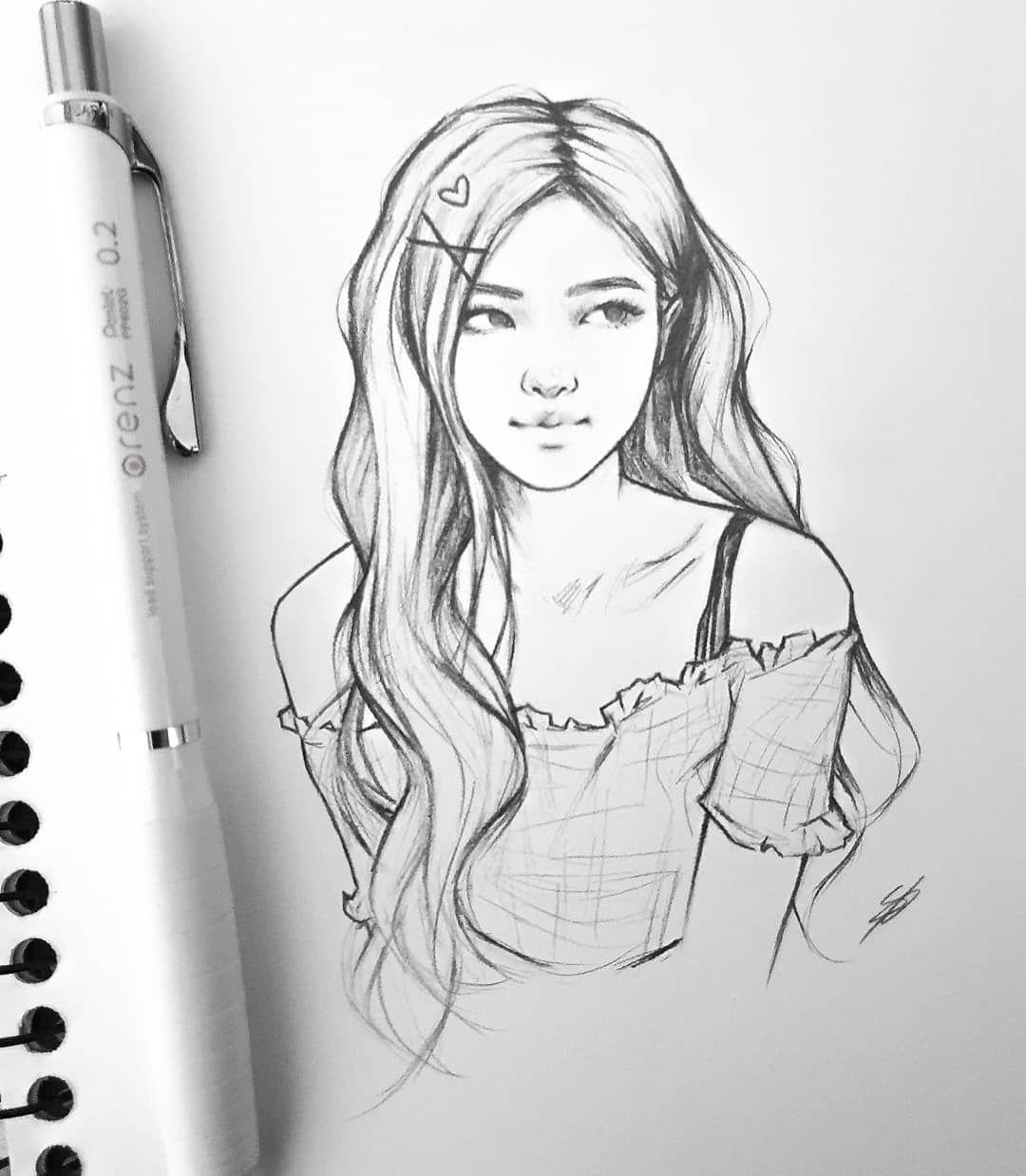 """• Nikki • on Instagram: """"🌹Rosé🌹 ⠀  blackpink  blackpinkfanart  fanart  rose  art  drawing  sketch  kpop  kpopfanart"""""""