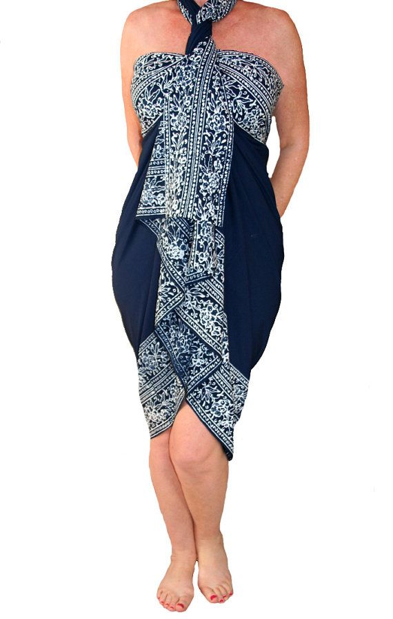 a2bb3f46e7959 PLUS SIZE Sarong Dress or Skirt - Women s Extra Long Beach Sarong by PuaWear
