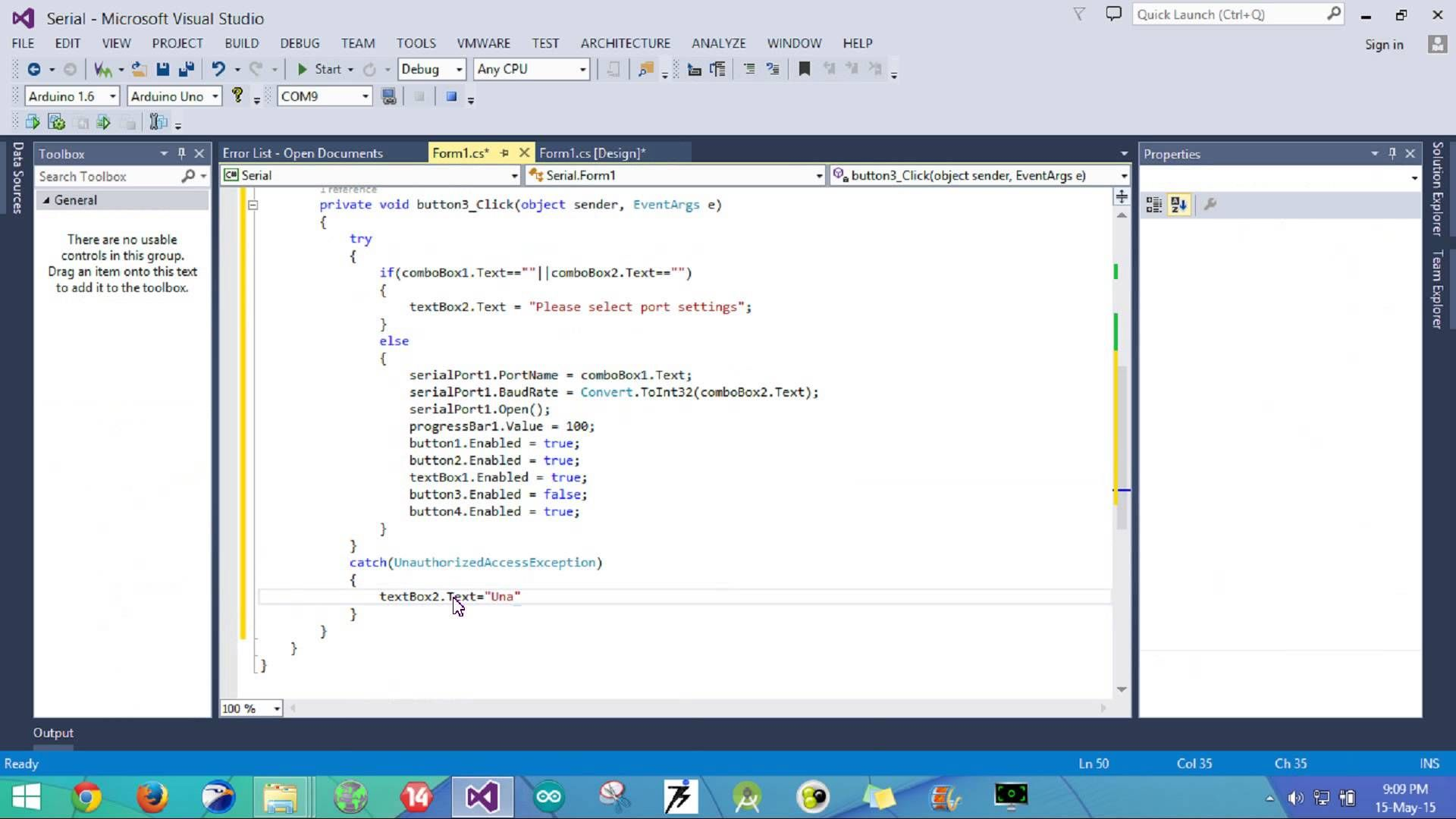 Visual studio c serial communication tutorial part 2 this video tutorial shows how we can access the serial port on our computer using visual studio c windows forms application baditri Gallery