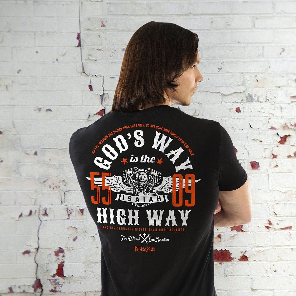 Christian T-Shirt - God's Way T-Shirt (As the Heavens are higher than the Earth)