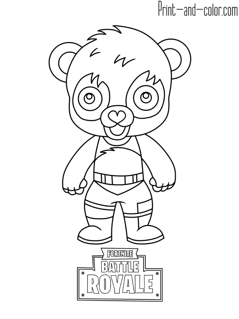 Fortnite Battle Royale Coloring Page Panda Team Leader Bear Coloring Pages Coloring Pages Coloring Pages For Boys