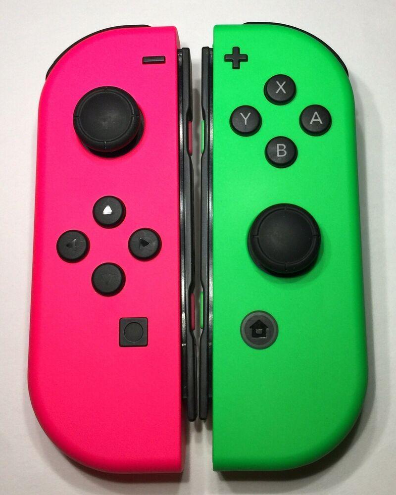 Nintendo Switch Joy Con Wireless Controller Neon Pink Green New Opened Box Ebay Neon Pink Ebay Nintendo