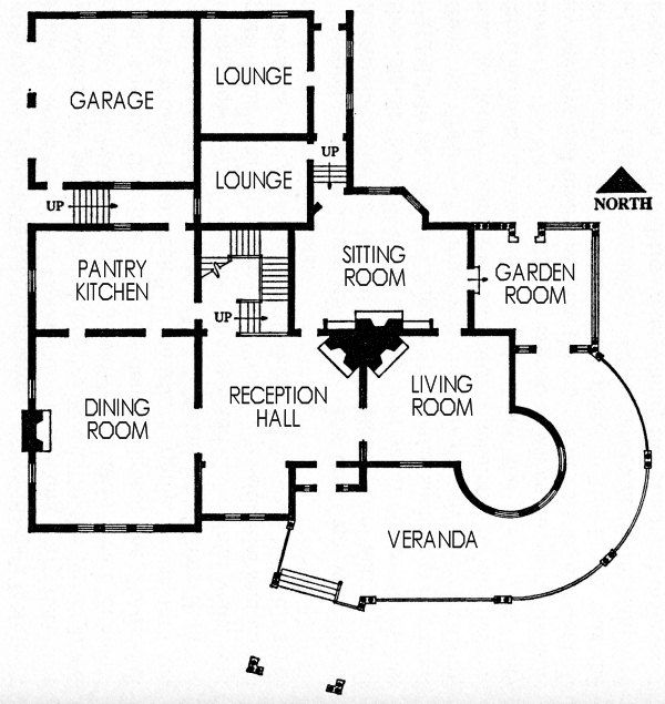 vice-president's residence floor plan | home plans + architecture