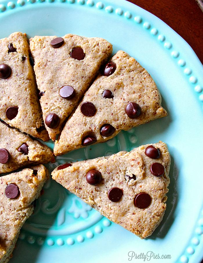 Chocolate Chip Scones Keto Paleo Vegan