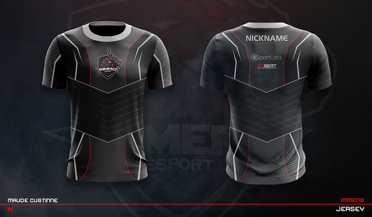 Download Jersey Esport Team Mockup On Behance Sport Shirt Design Sports Jersey Design Sports Shirts