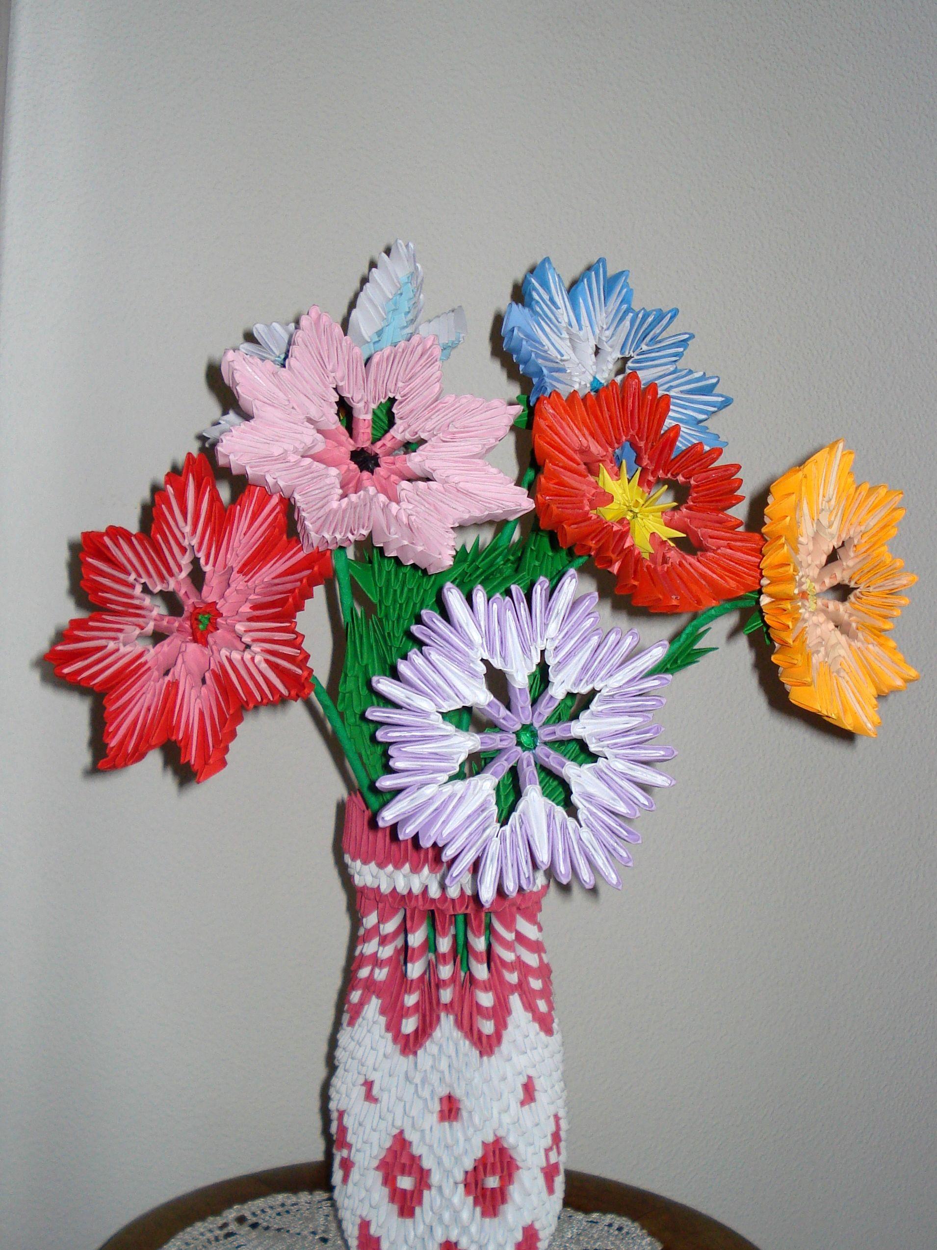 Kwiaty Z Origami Origami Kwiaty Pinterest Origami Origami