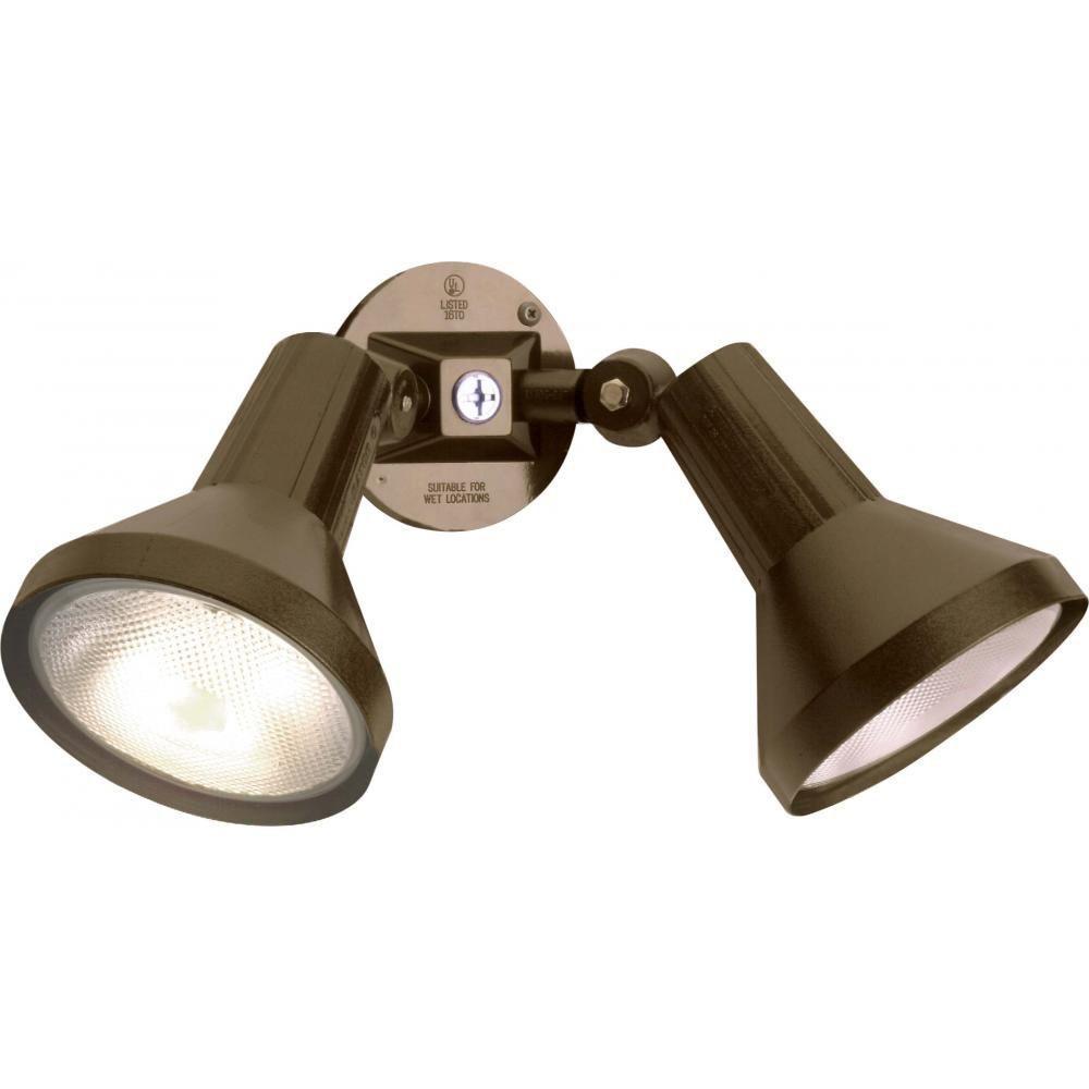 Glomar Tony 2 Light Dark Bronze Flood Light Products Outdoor Flood Lights Lighting Sconce Lighting