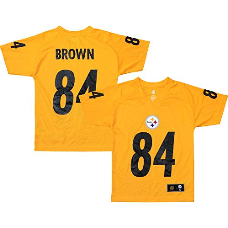 the best attitude 463f5 c767c Antonio Brown Pittsburgh Steelers Yellow Performance Fashion ...