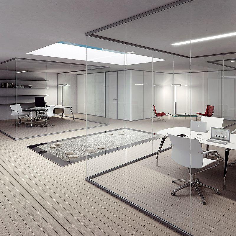 Arlex divide el espacio con su sistema de mamparas divisorias P600S | Interiores Minimalistas