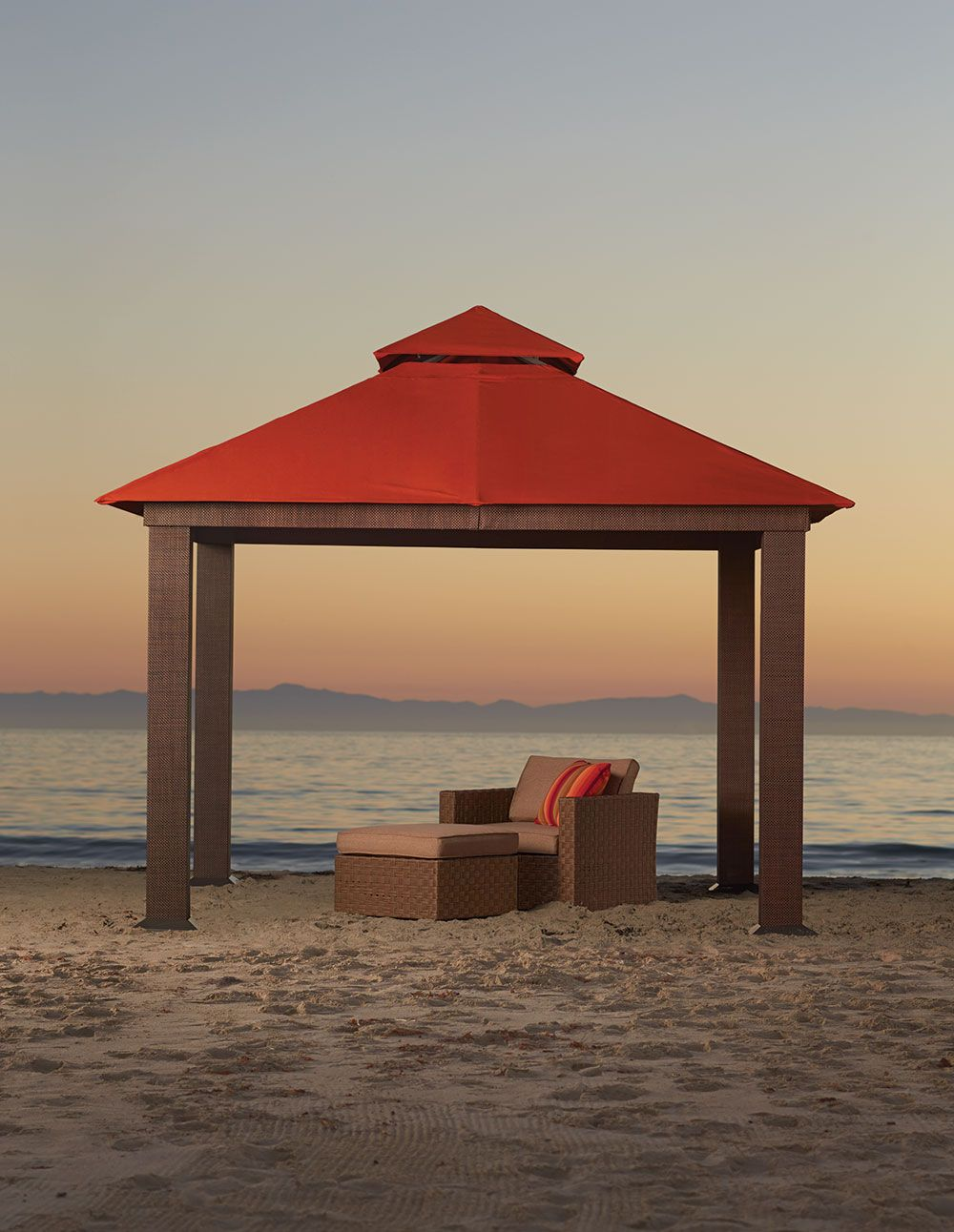 Wicker And Sunbrella Fabric Gazebo From Orchard Supply Hardware