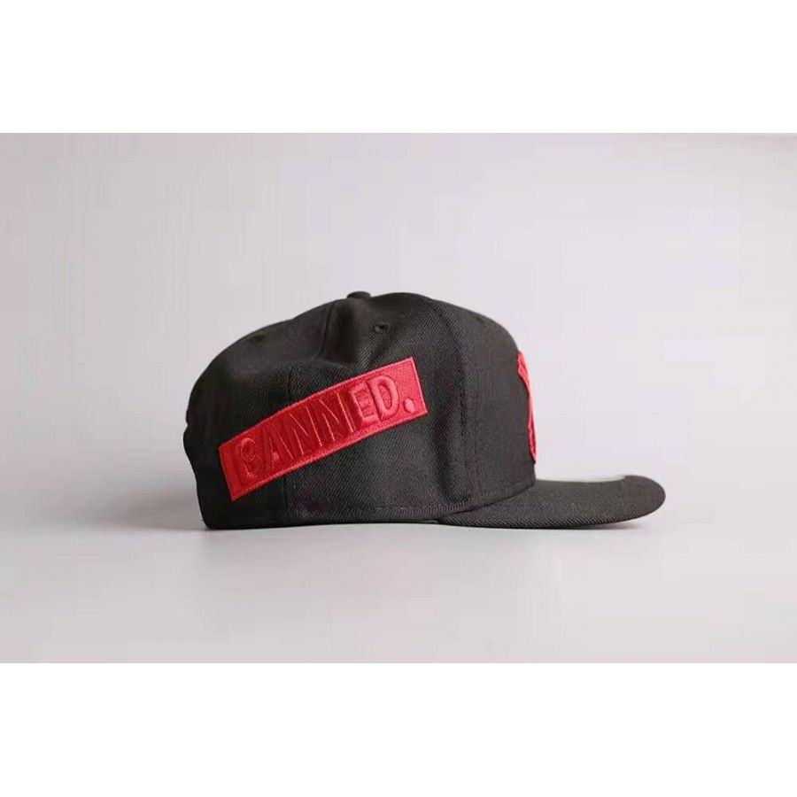 53fd23decaab5 ... where to buy air jordan banned snapback cap black red available 90701  437e9
