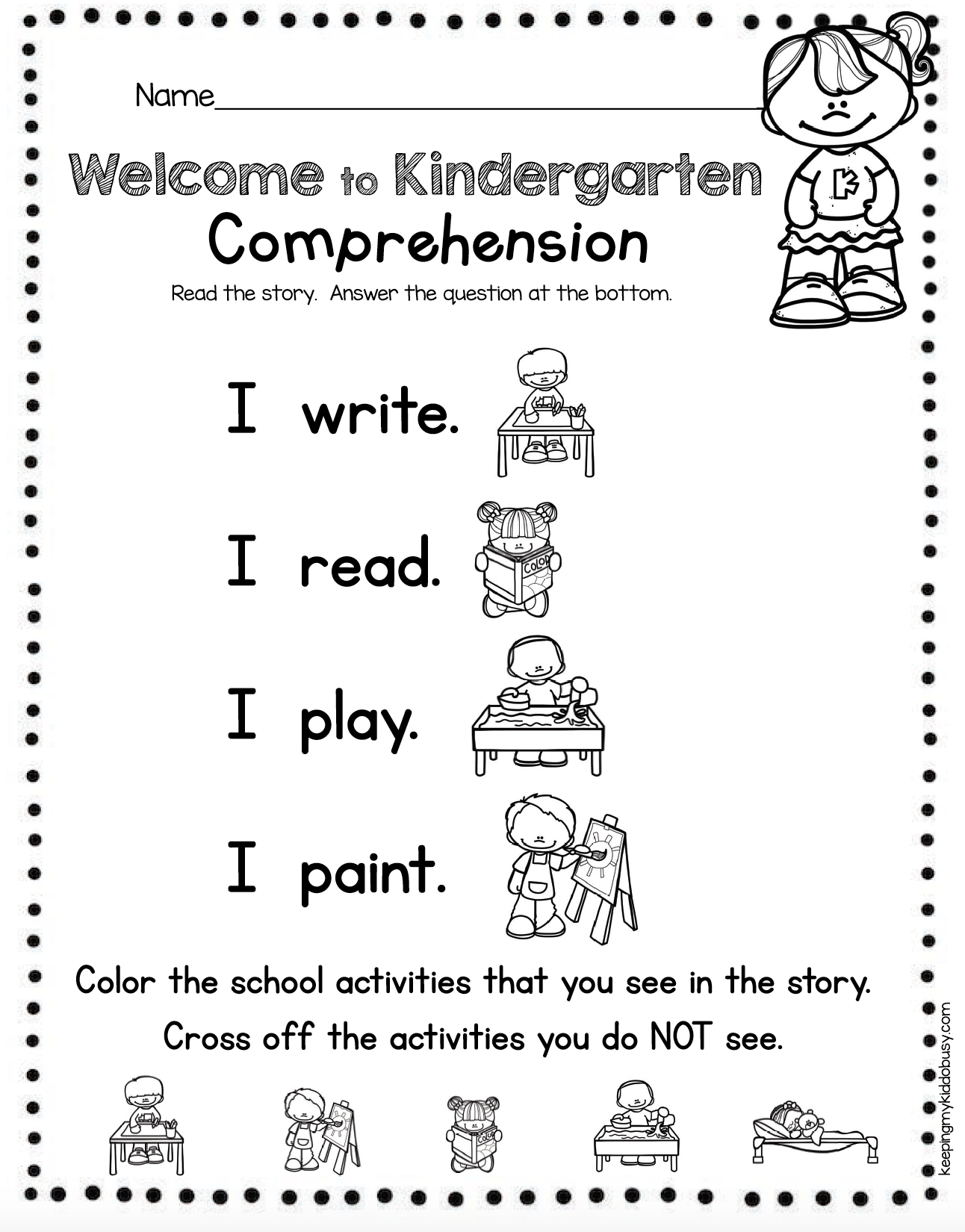 Reading And Writing Back To School In Kindergarten Free Week Keeping My Kiddo Busy Writing Sight Words Welcome To Kindergarten Words [ 1650 x 1292 Pixel ]