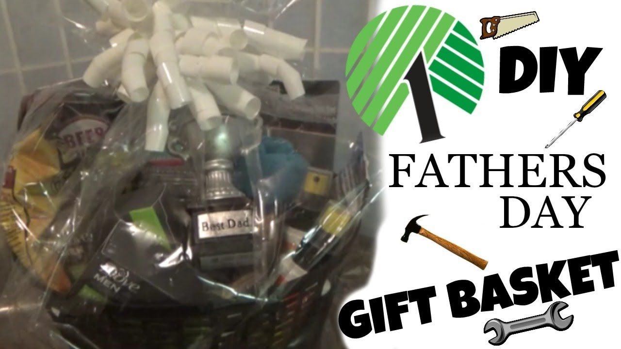 Diy dollar tree fathers day gift basket simple