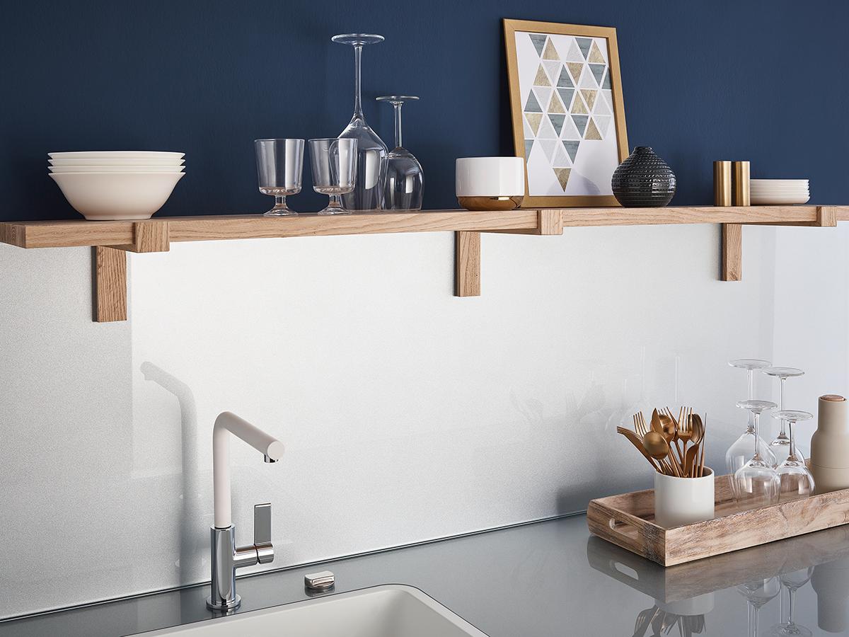 stylisch und #modern integriert sich unsere neue #Glasrückwand in ...