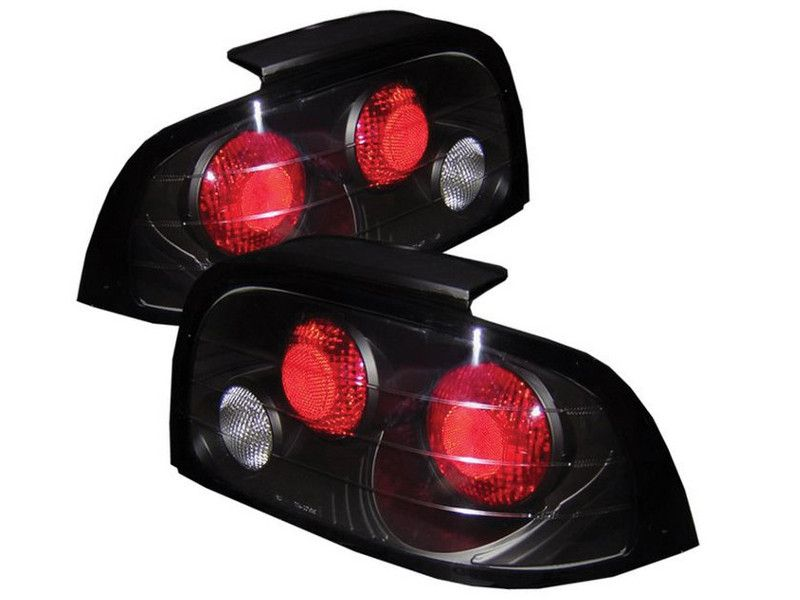 Spyder Black Taillights For Ford Mustang 1996 1998 Ford Mustang Mustang Car Ford