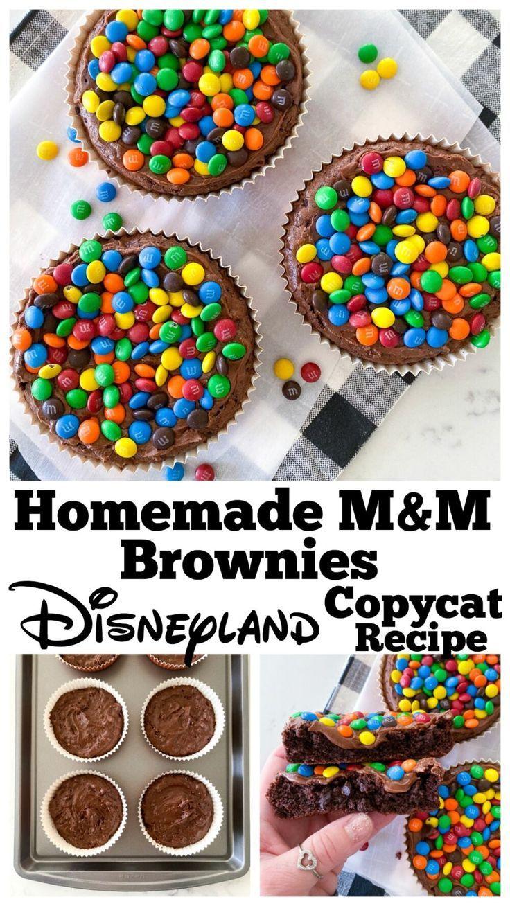 M&M Homemade Brownies | Disneyland Copycat Recipe These Homemade Brownies look and taste just like