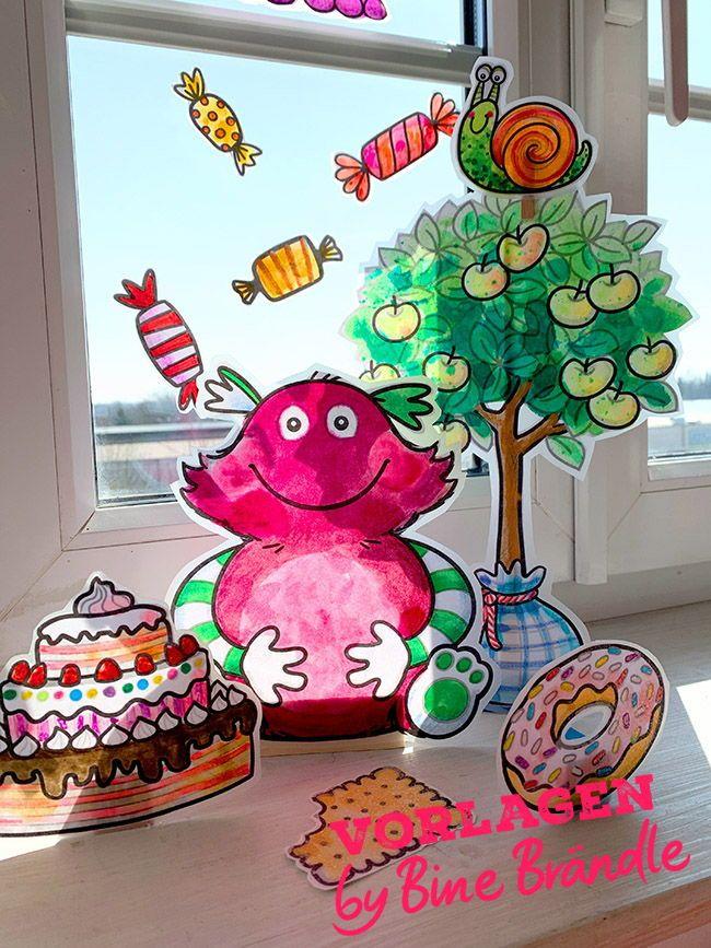 Meine kleinen Monster zum basteln Kunst für kinder