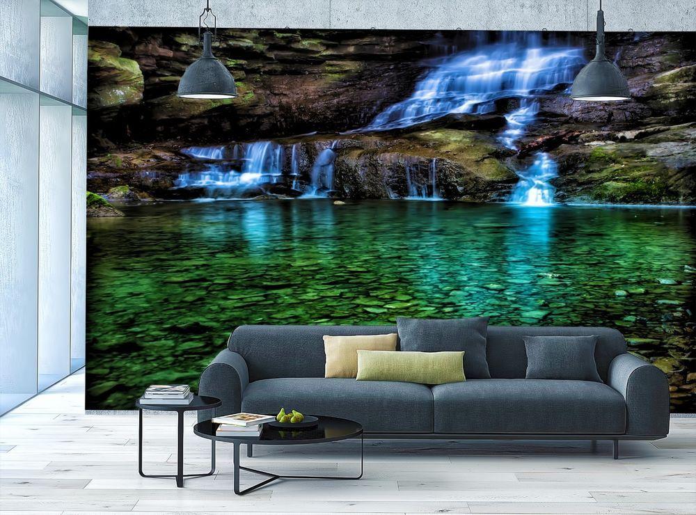 Photo Wallpaper MURAL Room Art Waterfall Stones Mural