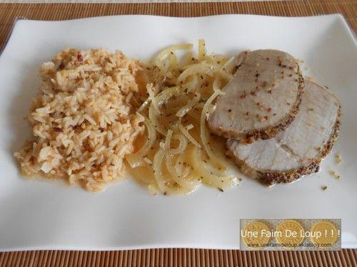Rôti de porc au miel \ moutarde à lu0027ancienne    unefaimdeloup