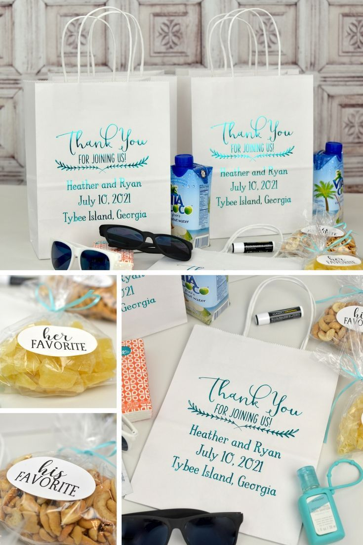 8 x 10 Custom Printed Kraft Paper Gift Bags (Set of 25) | Reception ...
