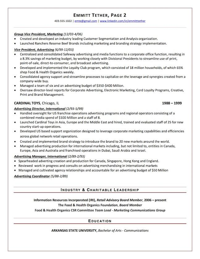 The Top 4 Executive Resume Examples Written By A Professional Recruiter Resume Examples Executive Resume Recruiter Resume